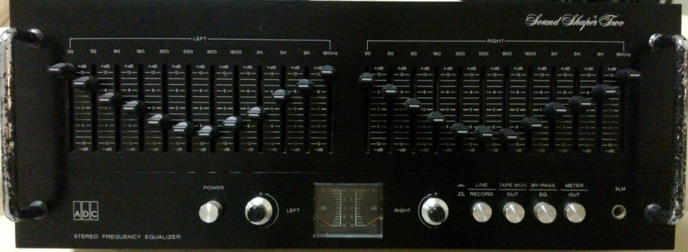 ΙΣΟΣΤΑΘΜΙΣΤΗΣ ADC SS-2 SOUND SHAPER TWO EQUALIZER black