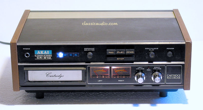 *sold TAPE DECK AKAI CR-81 silver wood