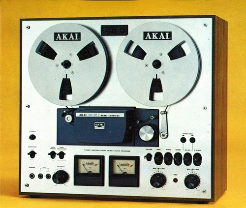 AKAI GX-230D RTR TAPE RECORDER DECK silver wood