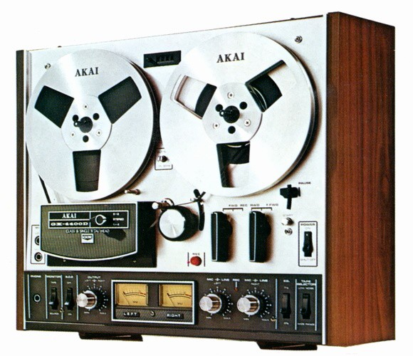 AKAI GX-4400D RTR TAPE RECORDER DECK silver wood
