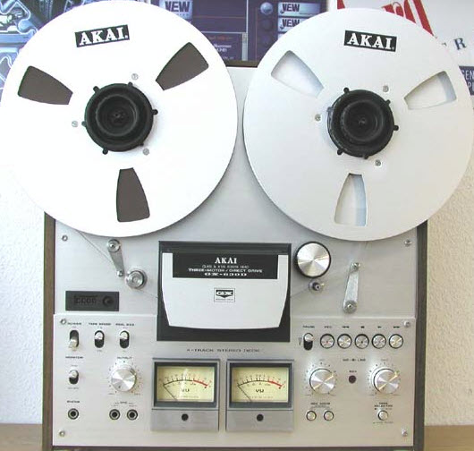 AKAI GX-630D RTR TAPE RECORDER DECK silver wood - like new