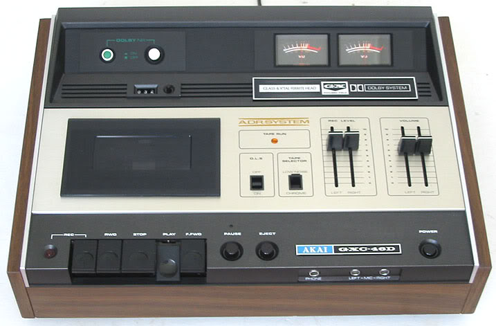 *sold TAPE RECORDER TOP LOAD DECK AKAI GXC-46 silver wood