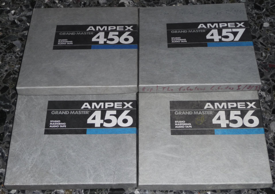 RTR TAPE 18cm AMPEX 456 GRAND MASTER used - 4 pieces
