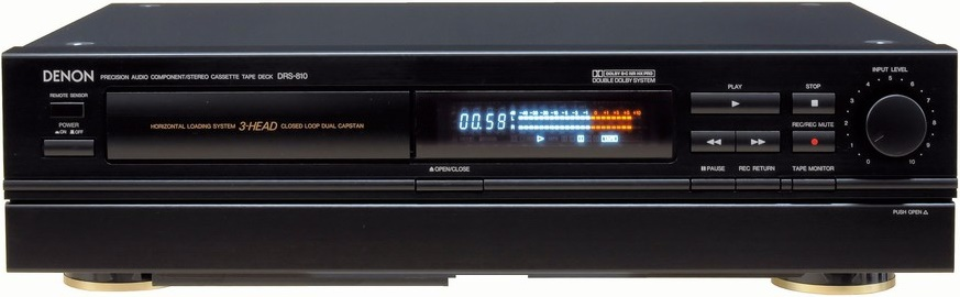 CASSETTE TAPE RECORDER DECK 3HEAD DECK DENON DRS-810 black