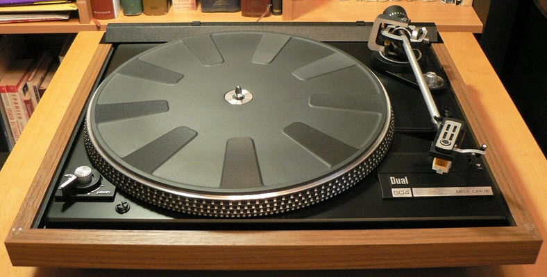 DUAL CS-504 BD TURNTABLE wood