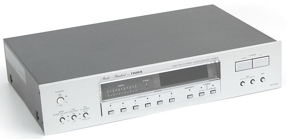 FISHER FM-2421 TUNER DIGITAL silver
