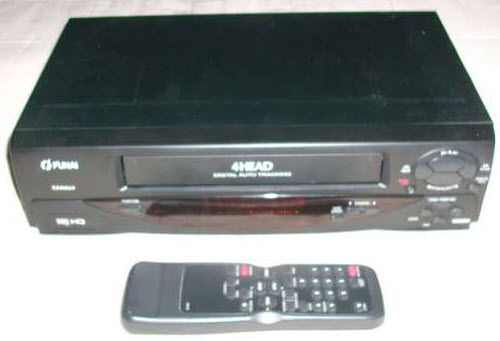 VIDEO RECORDER VHS FUNAI 21A-200 black & Τηλεχειριστηριο