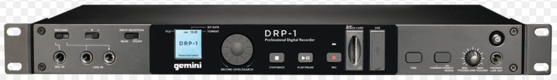 USB & SD GEMINI DRP-1 DECK DIGITAL AUDIO RECORDER & PLAYER