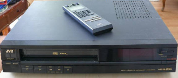 VIDEO RECORDER VHS JVC HR-D320E black & Τηλεχειριστηριο