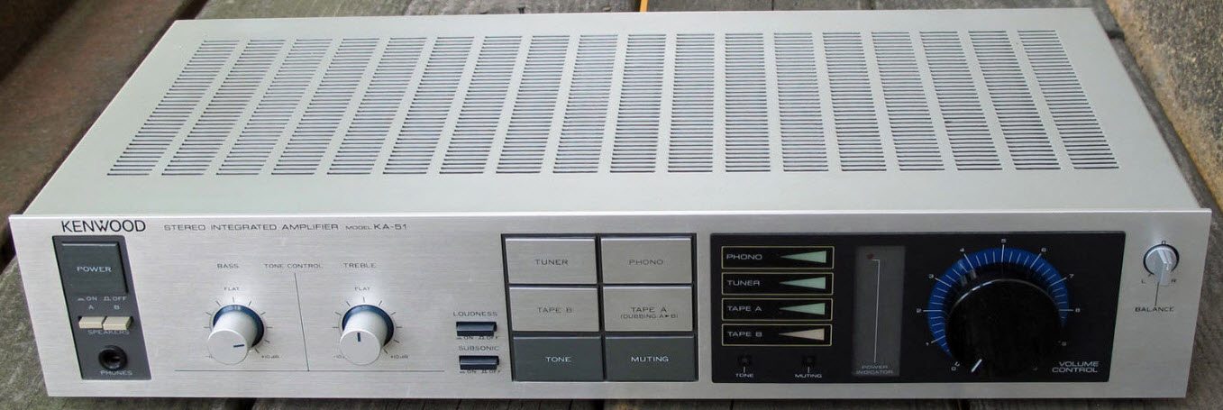 ΕΝΙΣΧΥΤΗΣ KENWOOD KA-51 AMPLIFIER silver