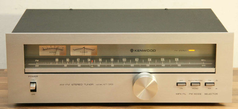 e KENWOOD KT-313 ΔΕΚΤΗΣ TUNER ANALOG silver - MINT
