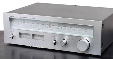 e NIKKO NT-890 ΔΕΚΤΗΣ TUNER ANALOG MULTIPATH silver - MINT