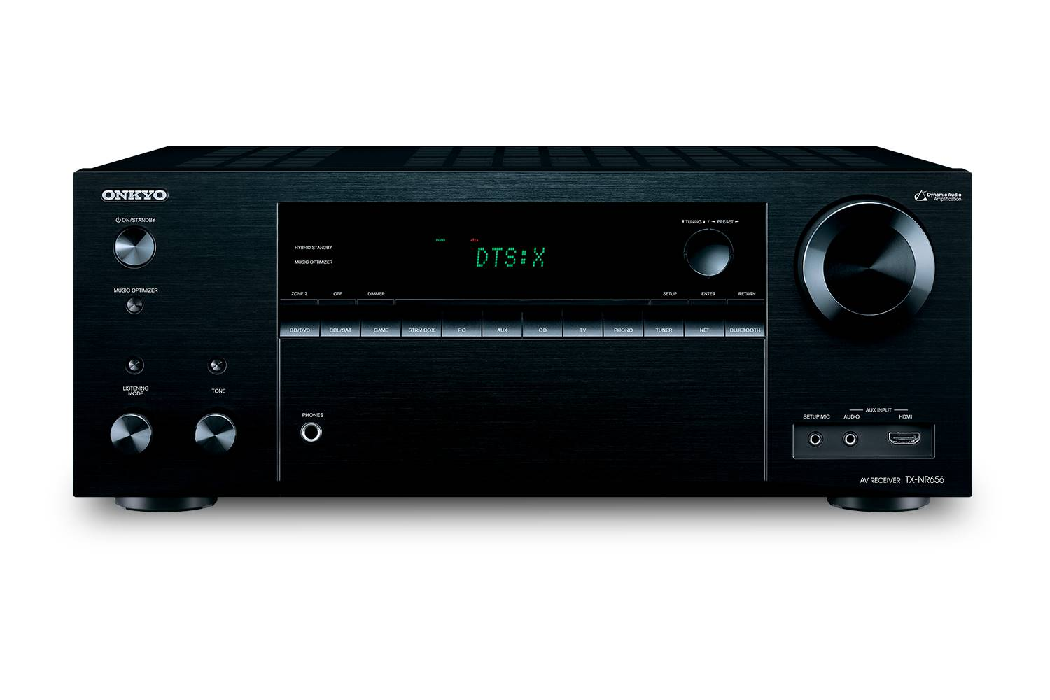 RECEIVER AV ONKYO TX-NR656 black & remote control - LIKE NEW boxed