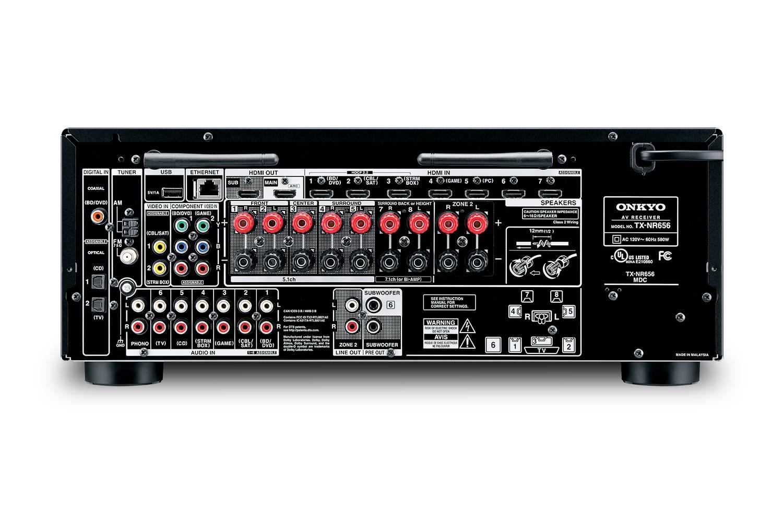RECEIVER AV ONKYO TX-NR656 black & remote control - LIKE NEW