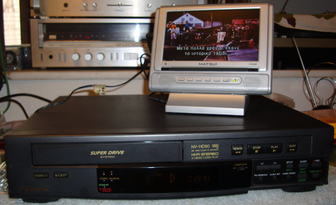VIDEO RECORDER VHS PANASONIC NV-HD90 4HEAD STEREO HIFI - serviced