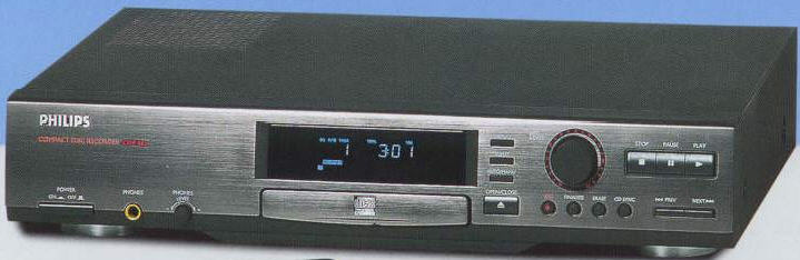 * PHILIPS CDR870 CDR CDRW CD RECORDER ΕΓΓΡΑΦΗΣ black & remote control - MINT boxed