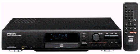 PHILIPS CDR870 CDR CDRW CD RECORDER black & remote control - mint