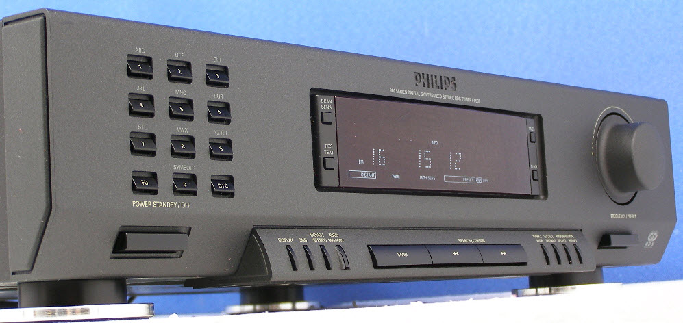 e PHILIPS FT930 TUNER DIGITAL ΔΕΚΤΗΣ & RDS black - MINT