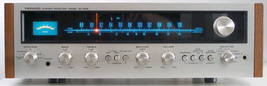 RECEIVER PIONEER SX-626 silver wood