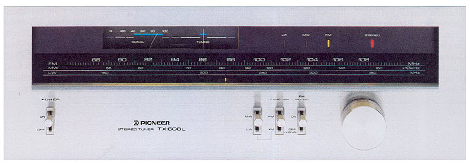 e PIONEER TX-608 TUNER ANALOG ΔΕΚΤΗΣ silver - MINT