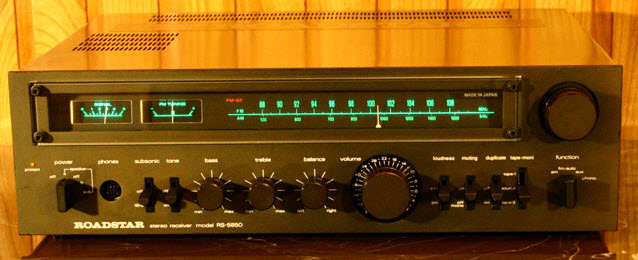 ΡΑΔΙΟΕΝΙΣΧΥΤΗΣ ROADSTAR RS-5850 RECEIVER black wood