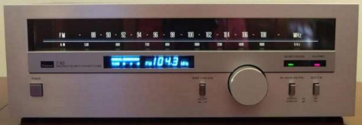 SANSUI T-80 ANALOG TUNER DIGITAL DISPLAY silver - MINT