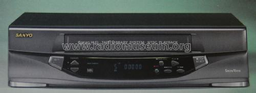 VIDEO RECORDER VHS SANYO VHR-778 6HEAD STEREO HIFI silver & remote control