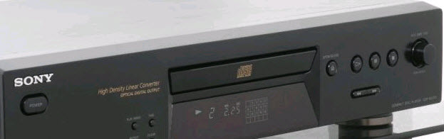 sold CD PLAYER SONY CDP-XE270 black OPTICAL OUT