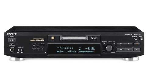 MD MINI DISC RECORDER DECK SONY MDS-JE530 black & PINCH CONTROL