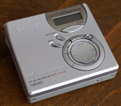 * MD MINI DISC RECORDER PORTABLE SONY MZ-N510 silver SP & LP