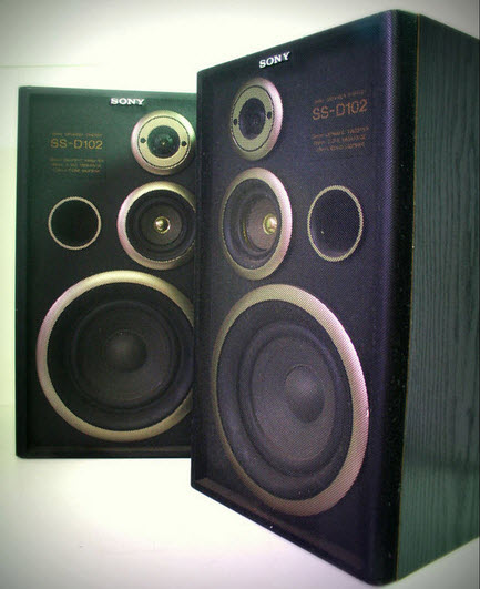 SPEAKERS SONY SS-D11 wood black - EXCELLENT CONDITION