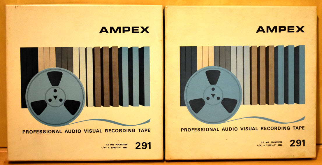RTR TAPE 18cm AMPEX 291 1200 brand new sealed - 6 pieces