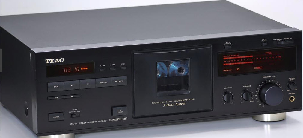 ΚΑΣΕΤΟΦΩΝΟ TEAC V-3000 3HEAD CASSETTE TAPE RECORDER DECK black