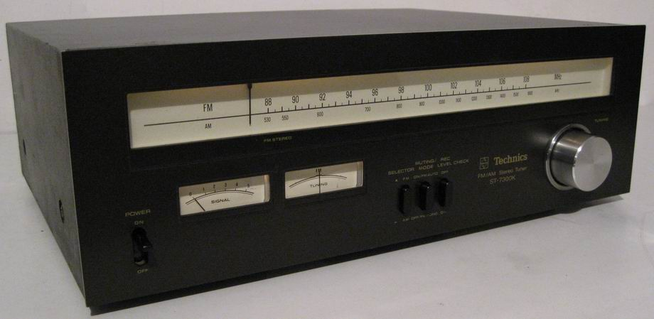 TECHNICS ST-7300K TUNER ANALOG black wood finish