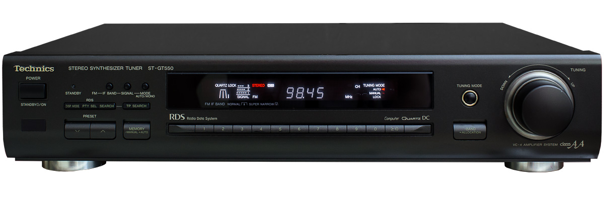ΔΕΚΤΗΣ TECHNICS ST-GT550 TUNER DIGITAL WIDE & NARROW & DB METER