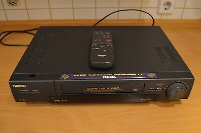 VIDEO RECORDER VHS TOSHIBA V854G 6HEAD STEREO HIFI silver & Τηλεχειριστηριο