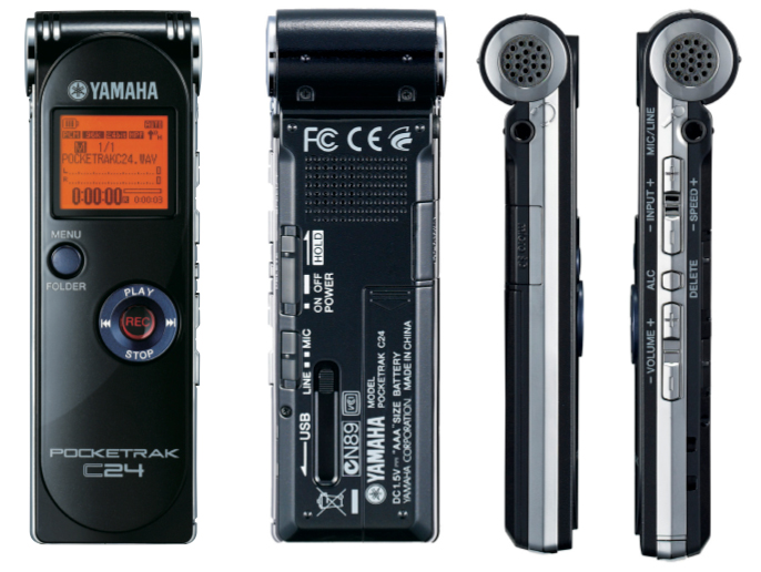 DIGITAL AUDIO RECORDER 24bit-96k & PLAYER PORTABLE YAMAHA C24 - ΚΑΙΝΟΥΡΓΙΟ στο κουτι του