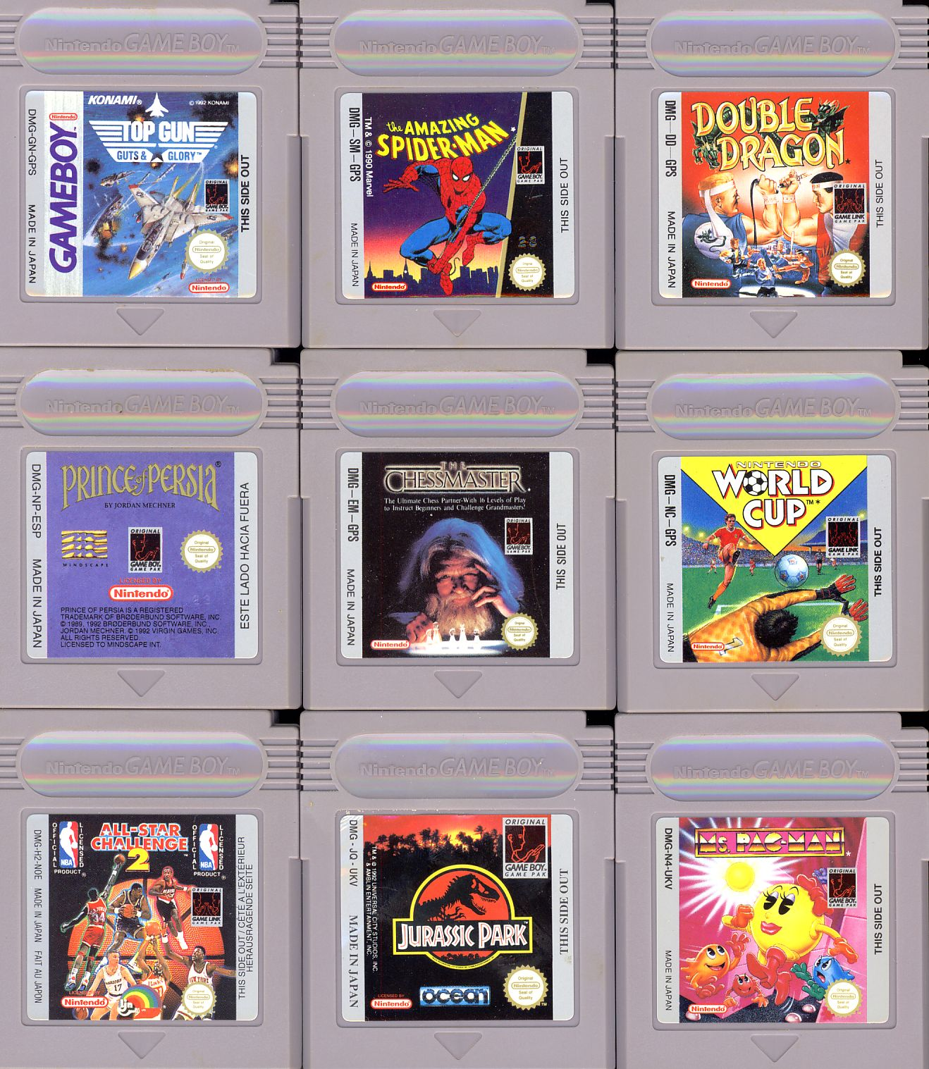 GAMES NINTENDO GAMEBOY 9 games